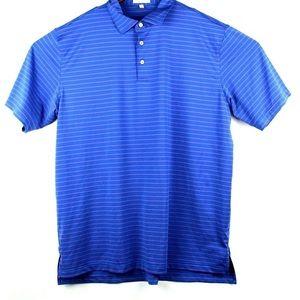 Peter Millar Summer Comfort Polo Blue Pink Shirt